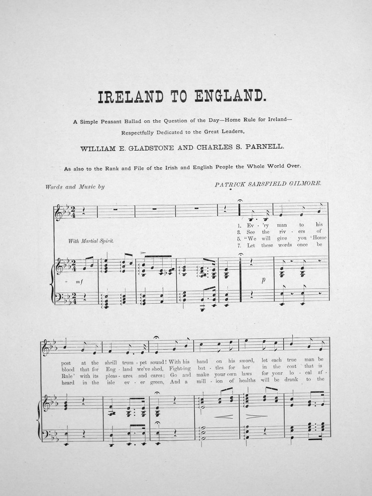 014 025 - Ireland to England  A Simple Peasant Ballad on the