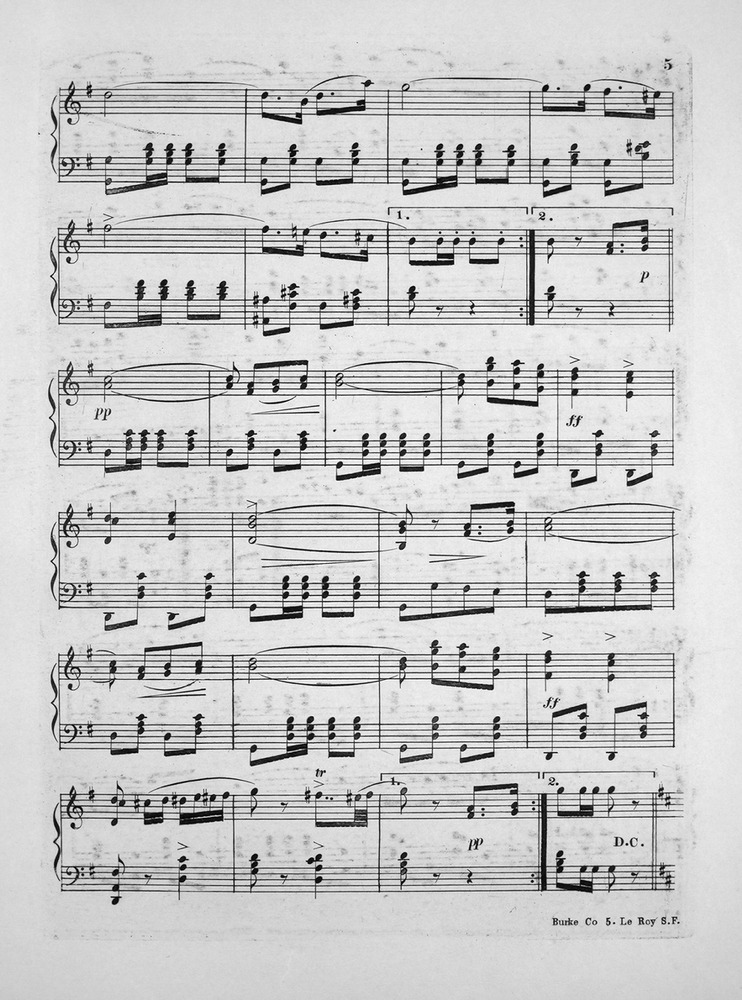 All Music Chords sheet music shenandoah : 016.009 - Shenandoah March. | Levy Music Collection