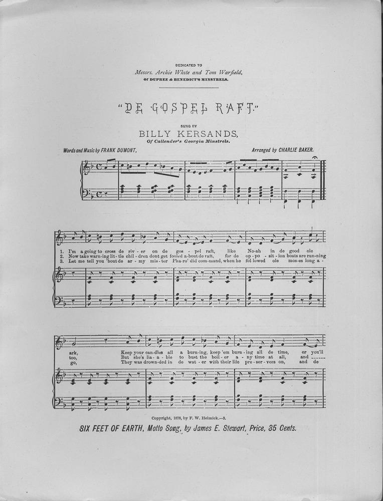 025 044 - De Gospel Raft  Plantation Song and Chorus  | Levy