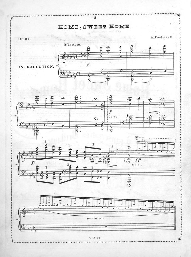 033.083a - Home, Sweet Home. Transcription Brillante pour Piano ...