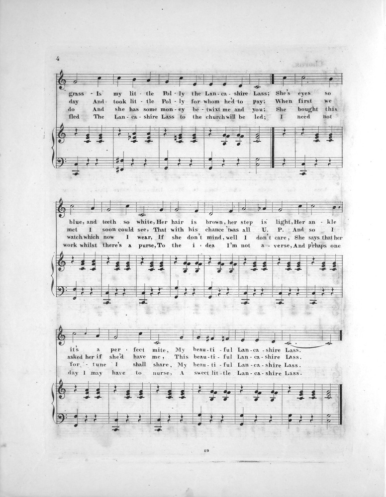 All Music Chords one sweet day sheet music : 052.061 - Lancashire Lass. Song. | Levy Music Collection