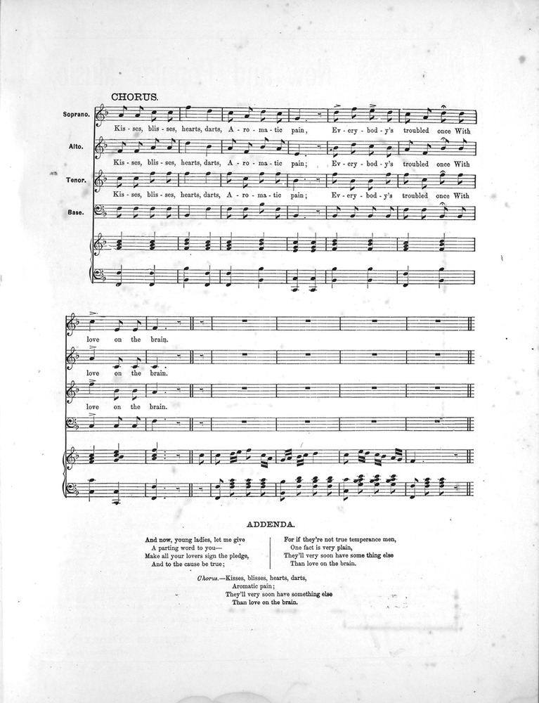 All Music Chords plain sheet music : 052.067 - Love on the Brain. | Levy Music Collection