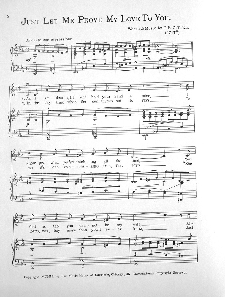 All Music Chords one sweet day sheet music : 055.017a - Just Let Me Prove My Love To You. | Levy Music Collection