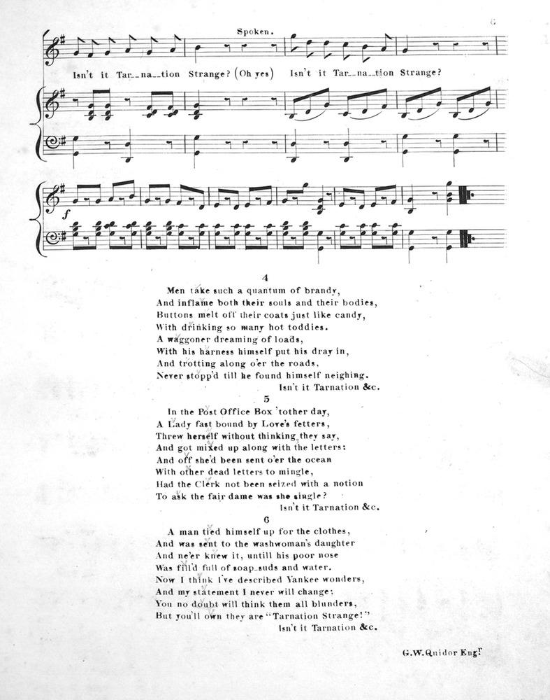 056 083 - Tarnation Strange, or, Yankee Wonders  Comic Song  | Levy