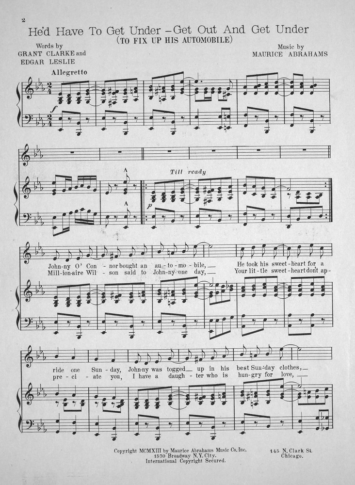 All Music Chords one sweet day sheet music : 060.066 - He'd Have to Get Under - Get Out And Get Under (To Fix ...