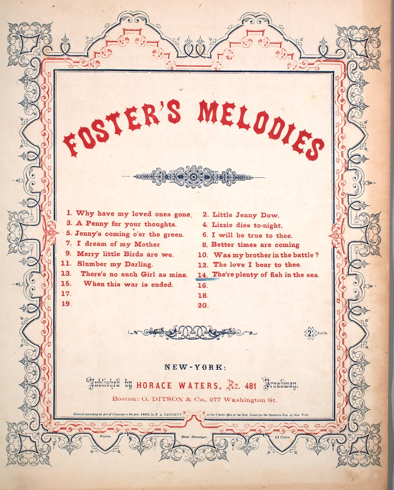 068 134 foster s melodies no 14 the re sic plenty of fish in