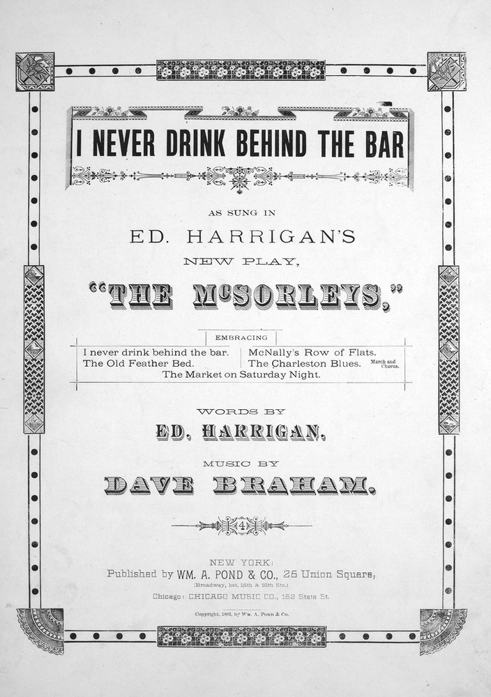 072 038 - I Never Drink Behind The Bar  | Levy Music Collection
