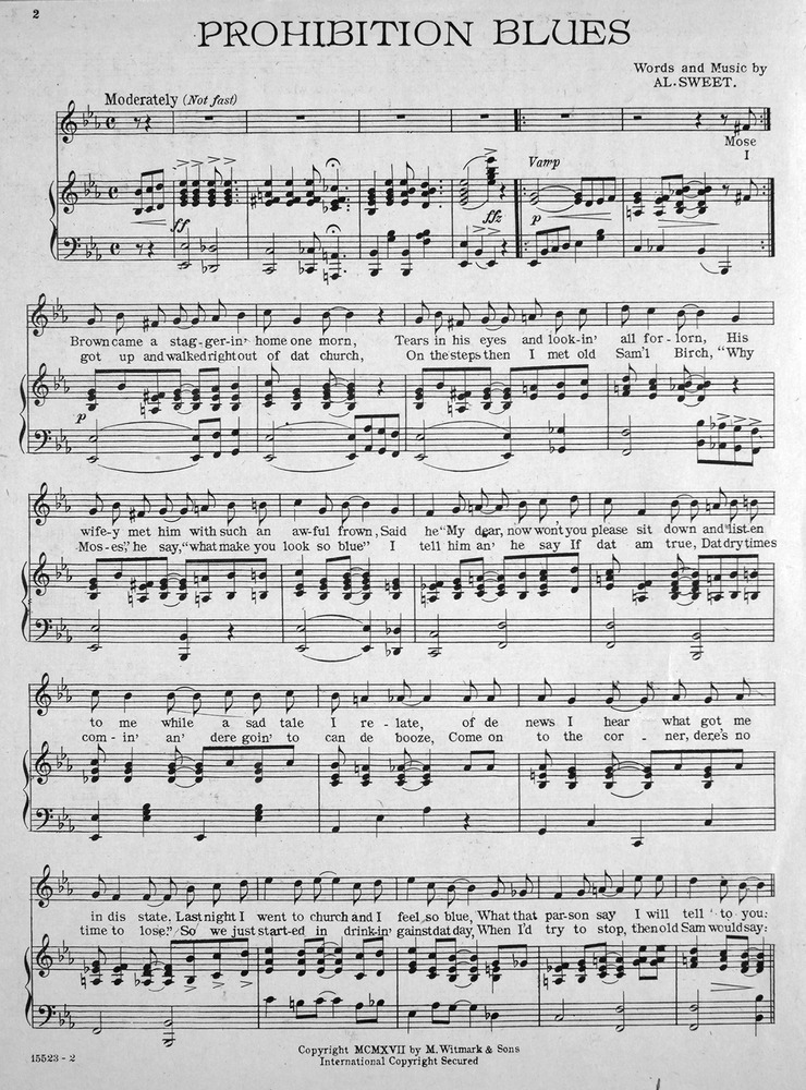 All Music Chords one sweet day sheet music : 098.185 - Prohibition Blues. | Levy Music Collection