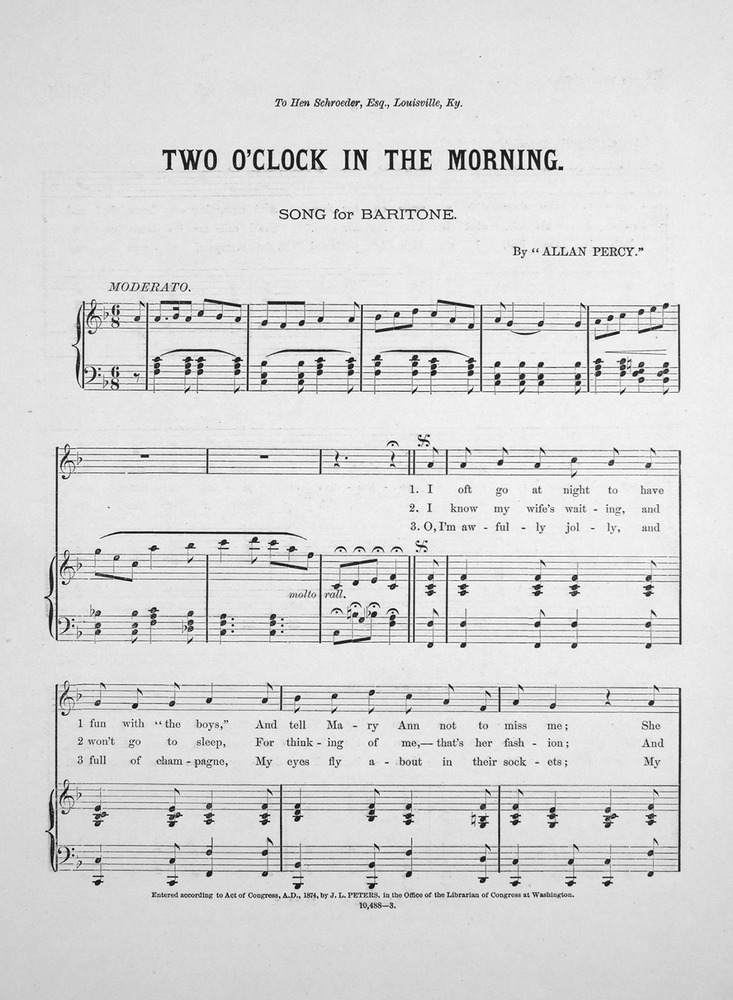 Two Oclock In The Morning Song Chorus
