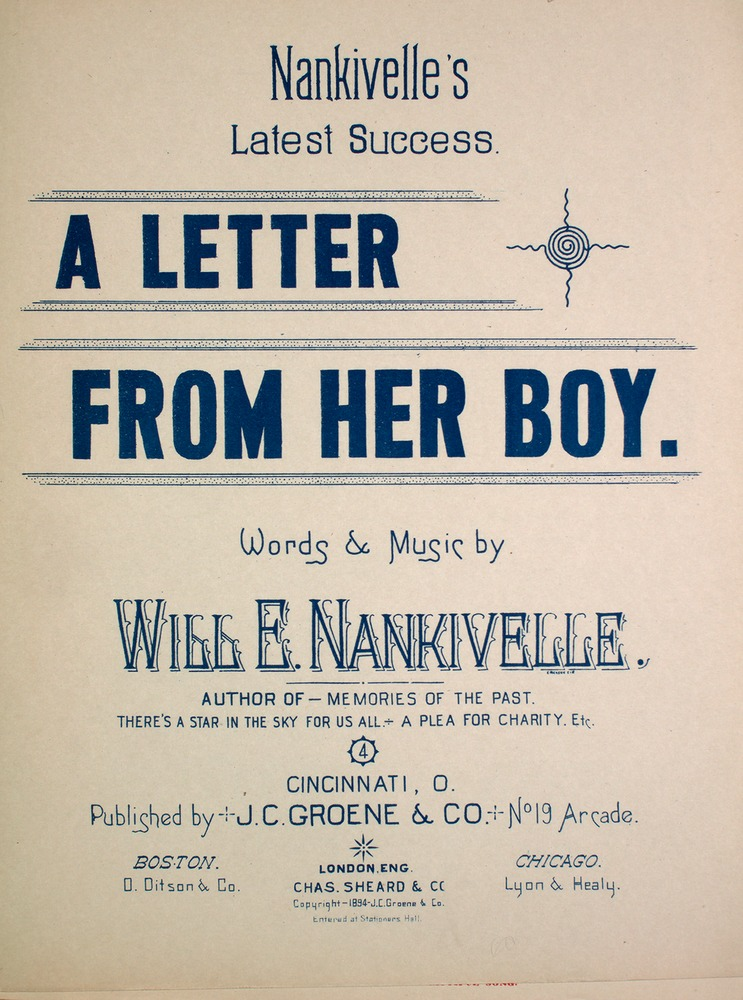 A Letter From Her Boy Nankivelles Latest Success