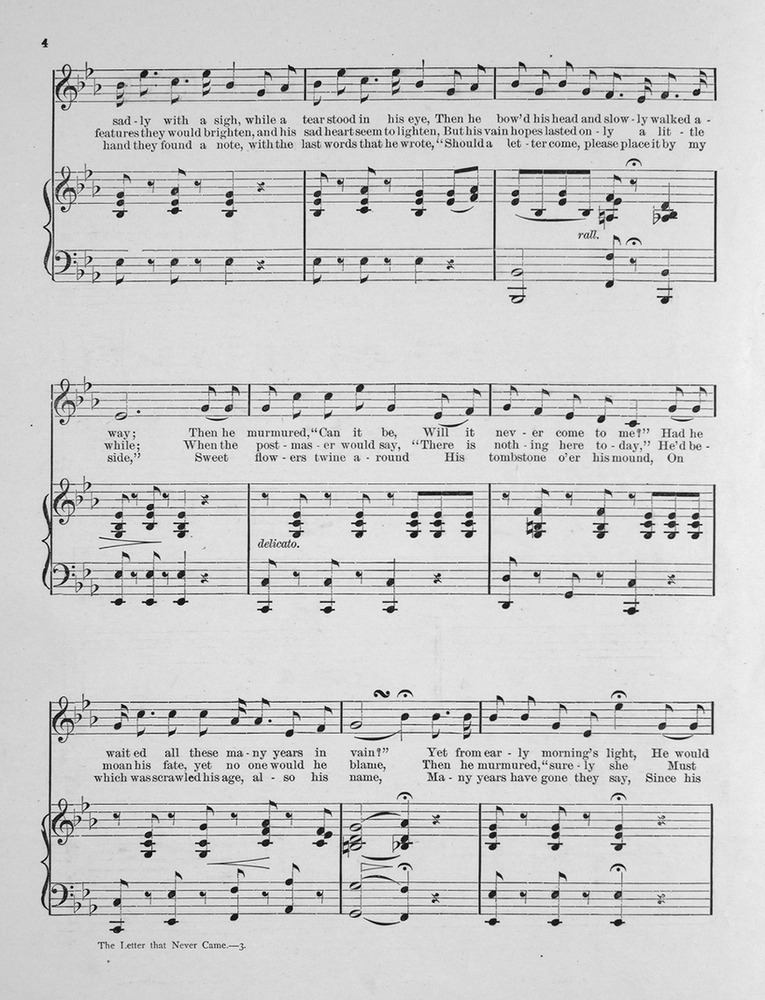 All Music Chords one sweet day sheet music : 103.019 - The Letter That Never Came. Song and Chorus. | Levy ...