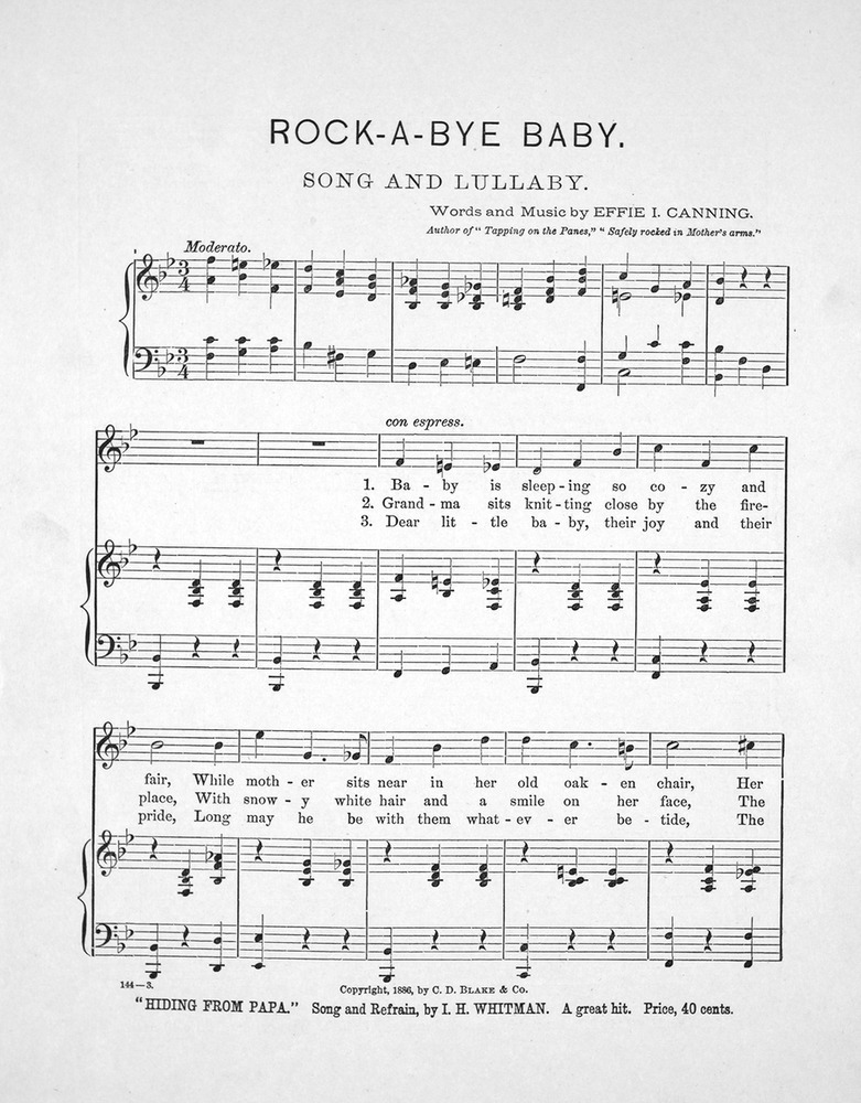 Songs Of The Old Homestead No 2 Rock A Bye Baby