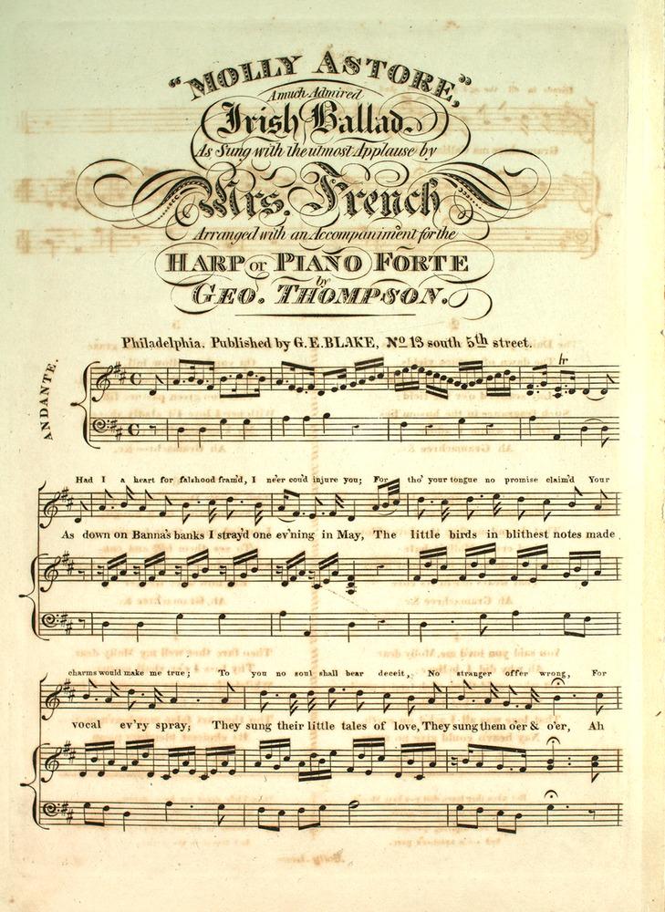 110 158 - Molly Astore  A Much Admired Irish Ballad  | Levy