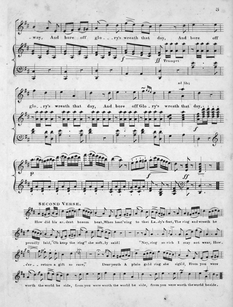 All Music Chords plain sheet music : 111.111 - The Plain Gold Ring. | Levy Music Collection
