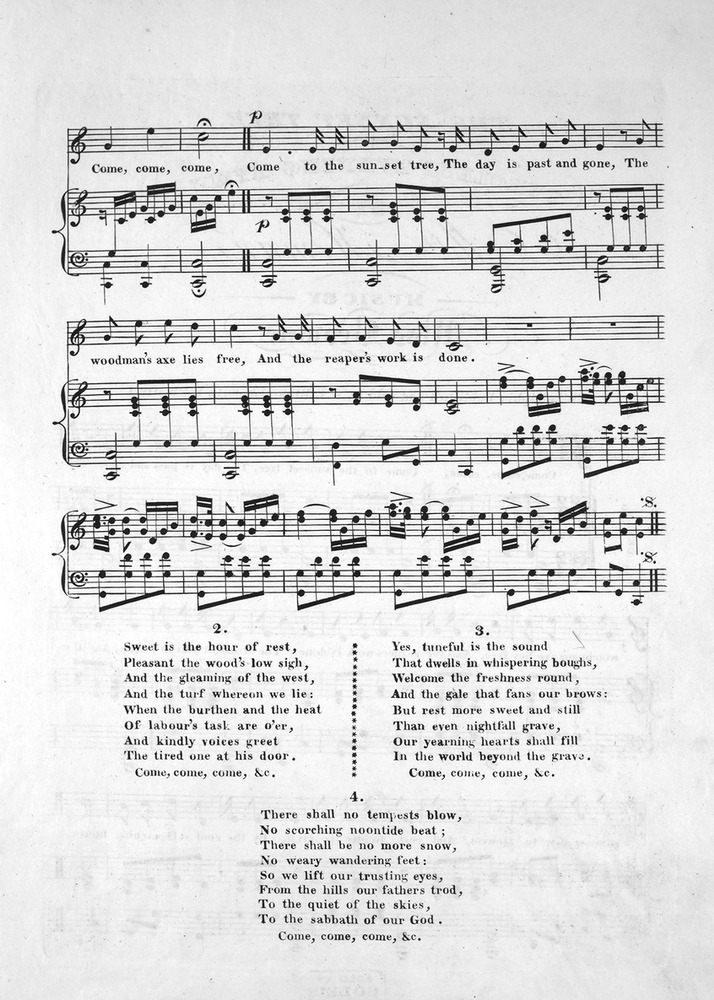 All Music Chords one sweet day sheet music : 115.133 - The Sunset Tree. Tyrolese Evening Hymn. | Levy Music ...