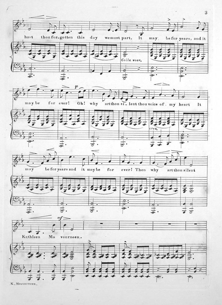 119 042 - Kathleen Mavourneen  Irish Ballad  Irisches Volkslied fur
