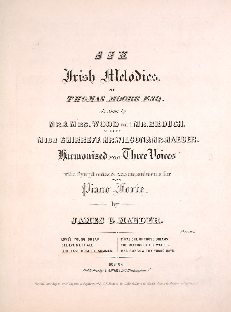 the life and contributions to music of thomas moore Thomas moore was born on may 28, 1779, in dublin, ireland close friends with writer lord byron, moore was entrusted with the famous romantic's memoirs after his death moore tried in vain to save.