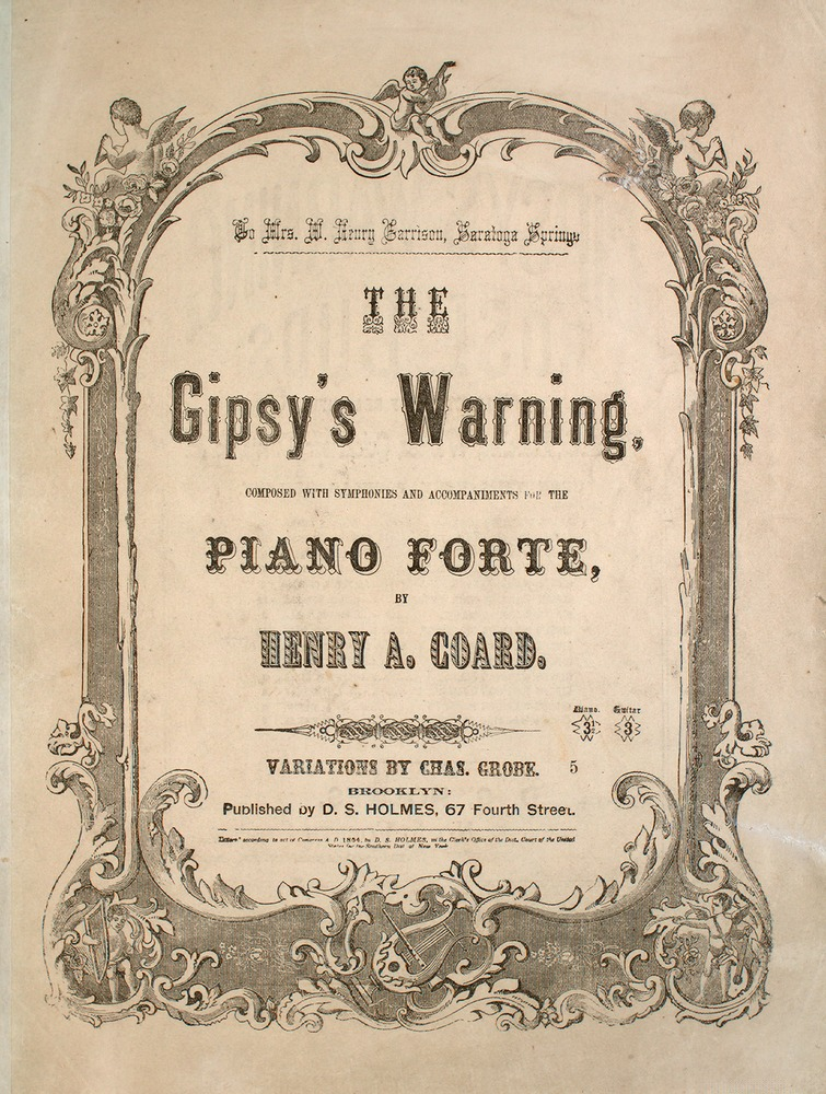 The Gipsy's Warning - from the Lester S Levy Sheet Music Collection.