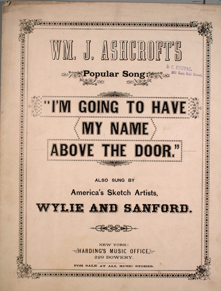 137 018 - Wm  J  Ashcroft's Popular Song I'm Going to Have