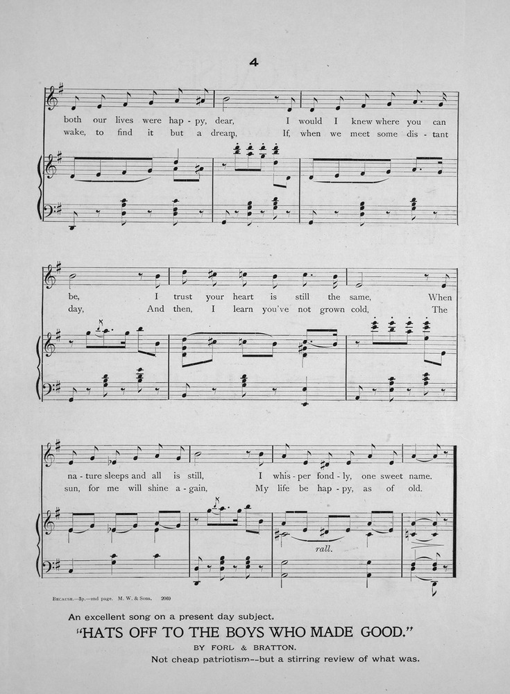 All Music Chords one sweet day sheet music : 140.034 - Because. Song. | Levy Music Collection