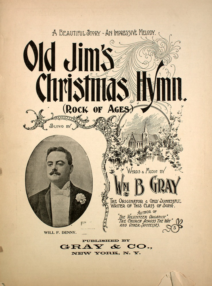 143 034 Old Jim S Christmas Hymn Rock Of Ages A Beautiful Story