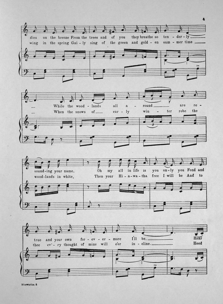 All Music Chords only you sheet music free : 146.165 - Hiawatha. Song. | Levy Music Collection