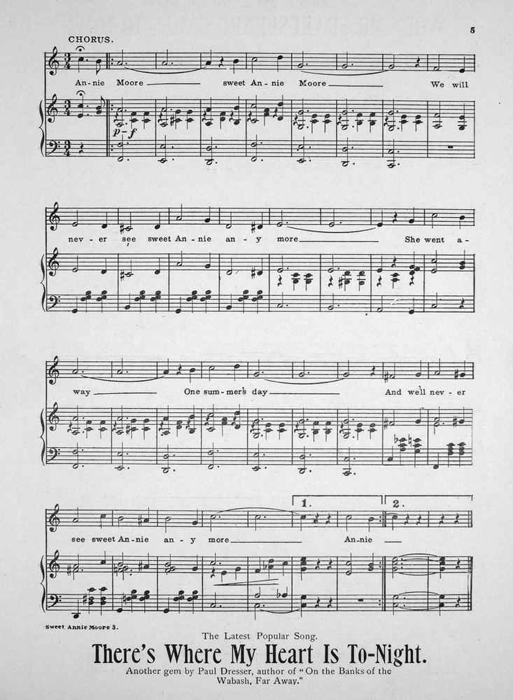 All Music Chords one sweet day sheet music : 150.004 - Sweet Annie Moore (Any More). Waltz Song. | Levy Music ...