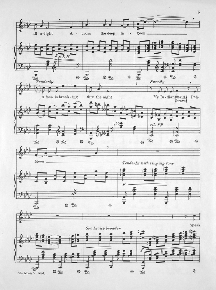 All Music Chords indian music sheet : 156.159a - Pale Moon. An Indian Love Song. Concert Edition. | Levy ...