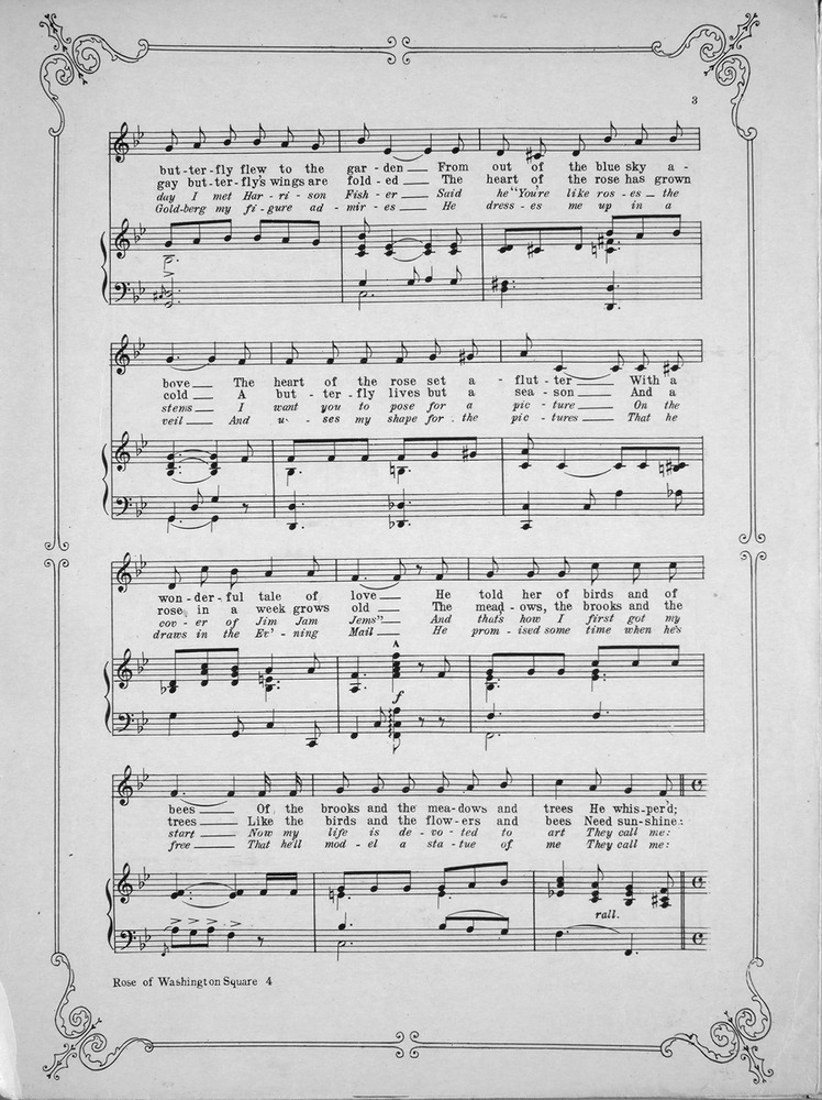 Lyric birds courting song lyrics : 156.188 - Rose of Washington Square. Song. | Levy Music Collection