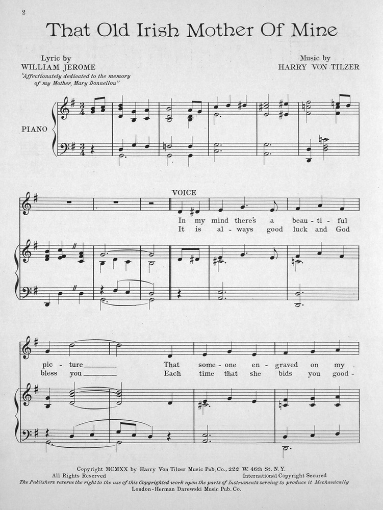 mother of mine sheet music pdf