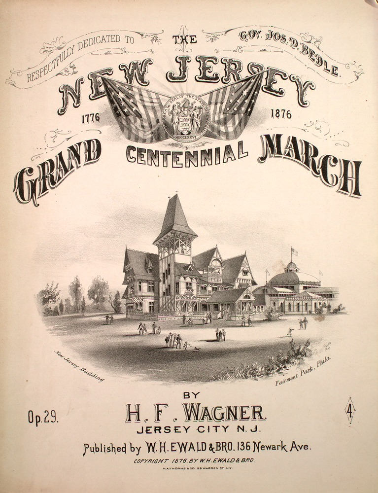 Wagner Ewald 166 130 jersey grand centennial march levy collection