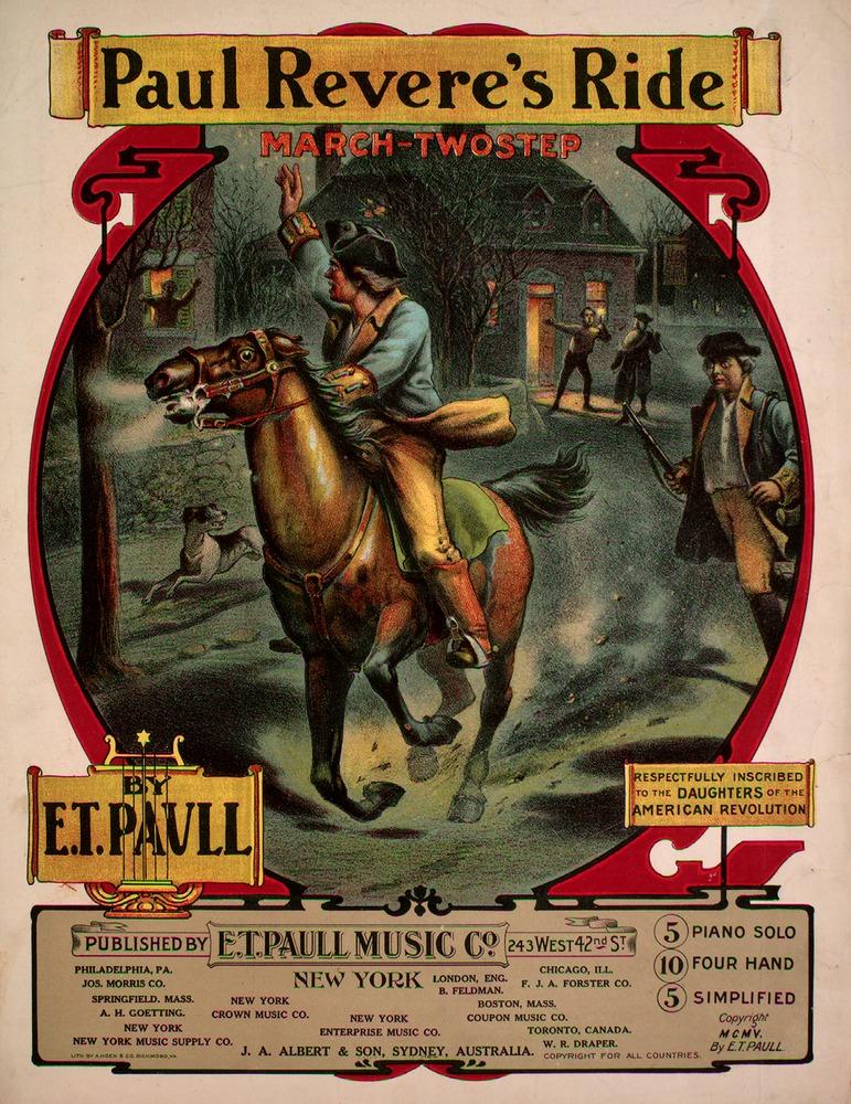longfellow poem paul revere