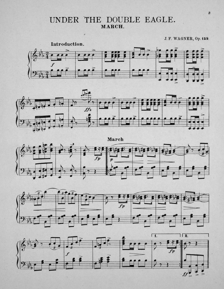 Under the Double Eagle (J.F. Wagner) - Free Flute Sheet Music