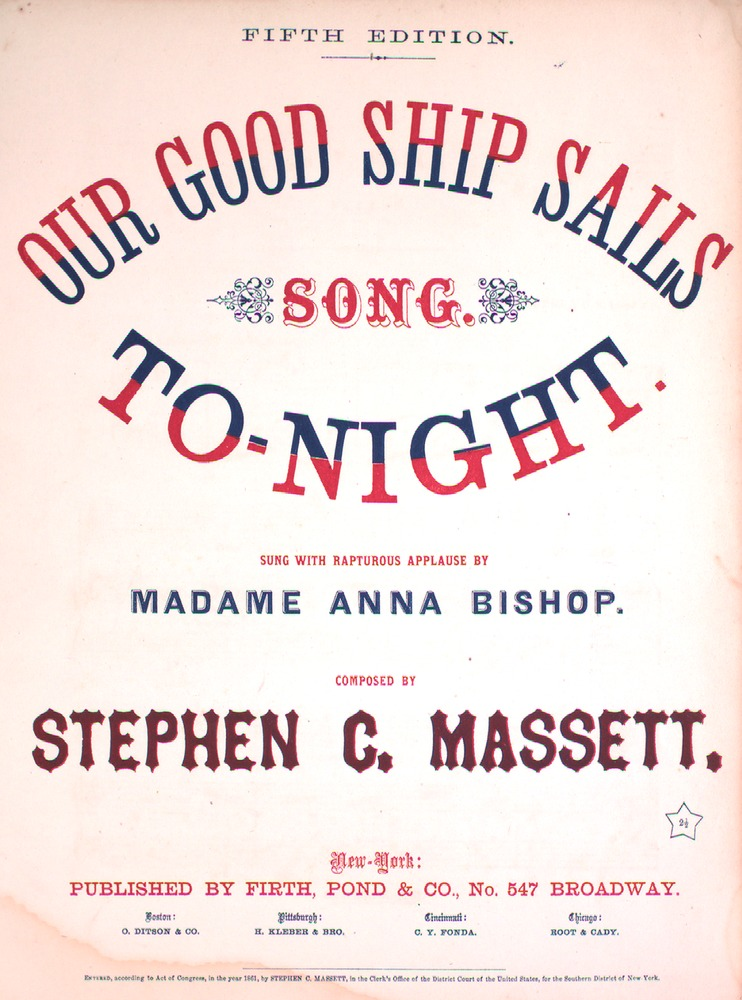 182 135 - Our Good Ship Sails To Night  Song  Fifth Edition